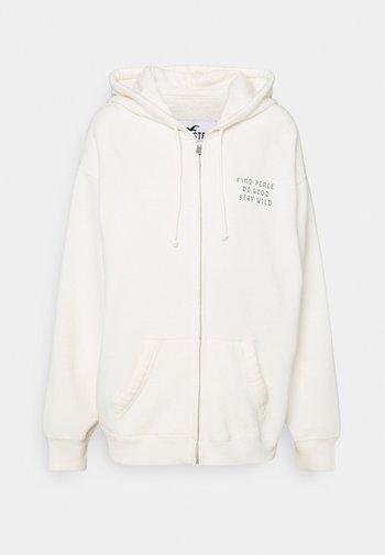 Zip-up sweatshirt - cream