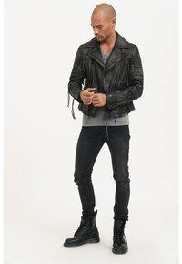 Trueprodigy - BRYAN - Leather jacket - black - 1