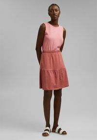 Esprit - A-line skirt - blush - 1
