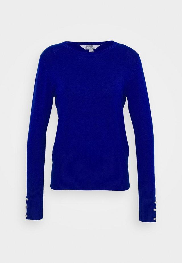 PEARL CUFF CREW NECK JUMPER - Stickad tröja - cobalt