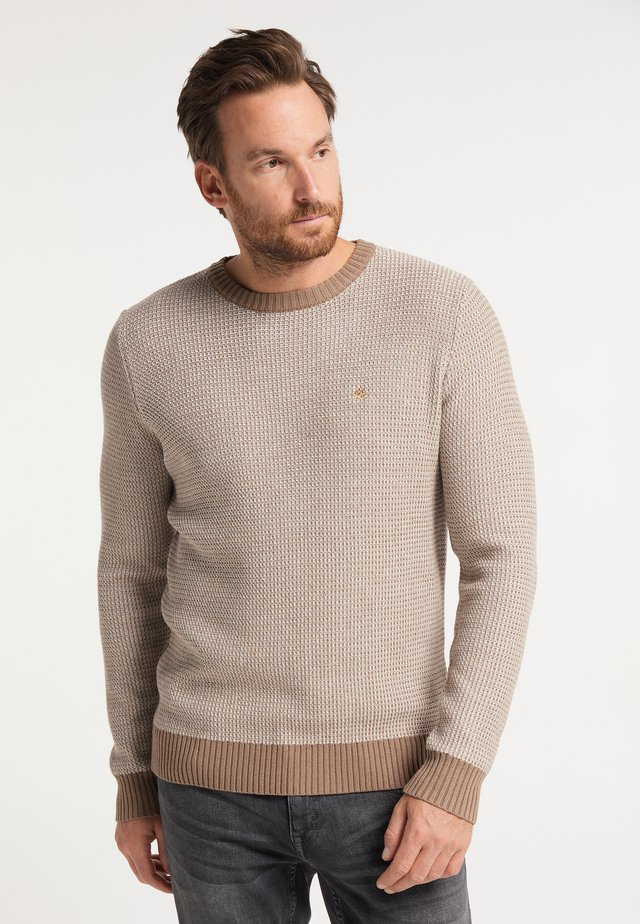 Pullover - beige wollweiss