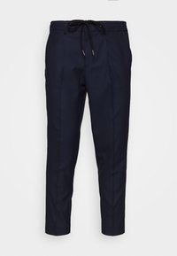 Selected Homme - SLHSLIMTAPE JAX CROP PANTS - Pantaloni - navy - 3