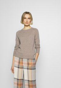 pure cashmere - CLASSIC CREW NECK  - Jumper - beige - 0
