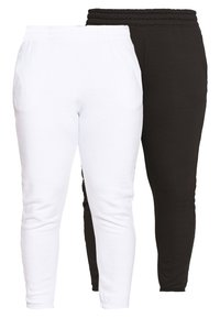 Missguided Plus - JOGGER 2 PACK - Pantaloni sportivi - black/ white - 0