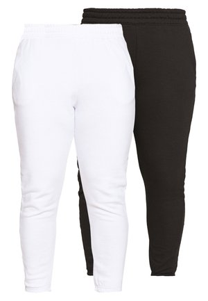 JOGGER 2 PACK - Tracksuit bottoms - black/ white