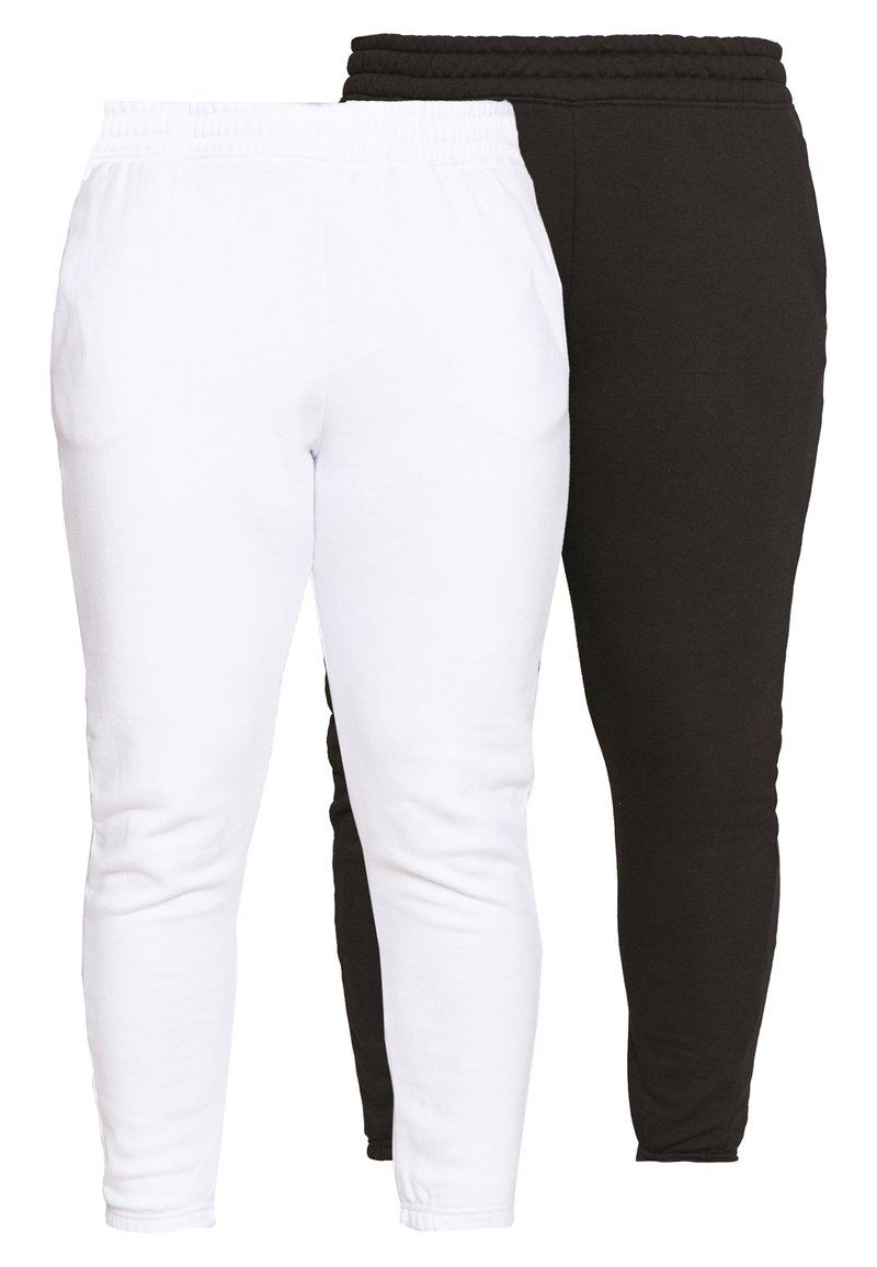 Missguided Plus - JOGGER 2 PACK - Pantaloni sportivi - black/ white