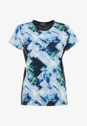 MIA - Print T-shirt - skyblue/black