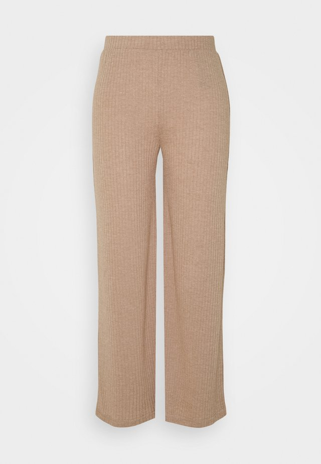 PANTS - Tygbyxor - warm taupe