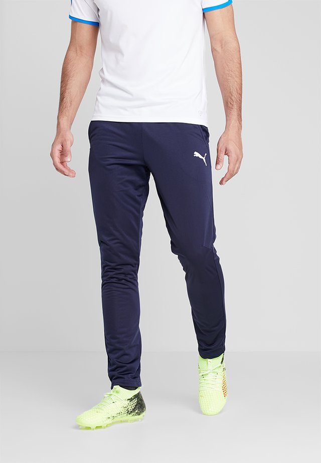 LIGA TRAINING PANT CORE - Tracksuit bottoms - peacoat/white
