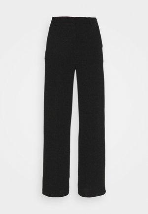 STRAIGHT SPARKLE PANTS - Trousers - black