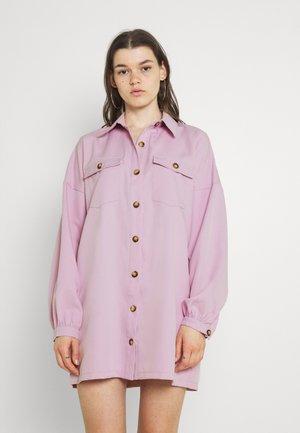 BUTTON SHIRT DRESS - Shirt dress - lilac