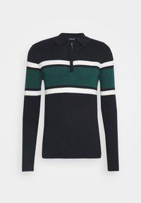 WEBSTER - Jumper - midnight navy/vintage white/emerald green