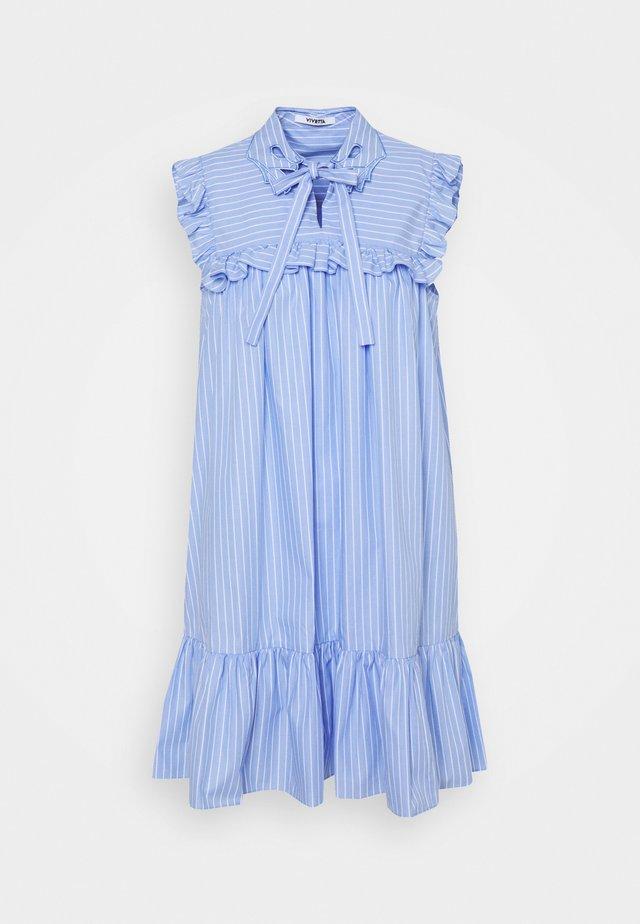 DRESS - Sukienka letnia - rigato fondo azzurro/bianco