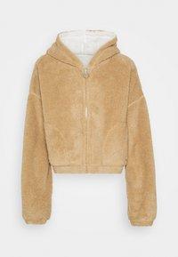 REVERSIBLE SHERPA - Fleece jacket - tan