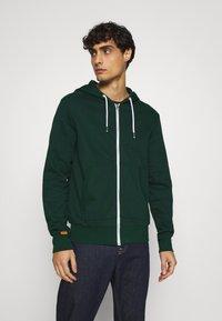 Pier One - Zip-up hoodie - dark green - 0