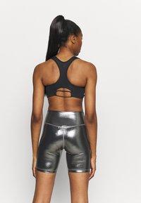Nike Performance - AIR BRA - Medium support sports bra - black/reflective silver - 2