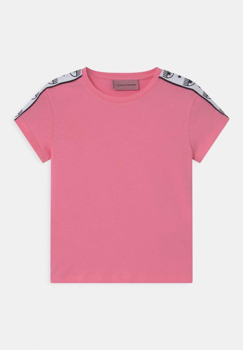 CHIARA FERRAGNI - TAPE ID - Print T-shirt - sachet pink