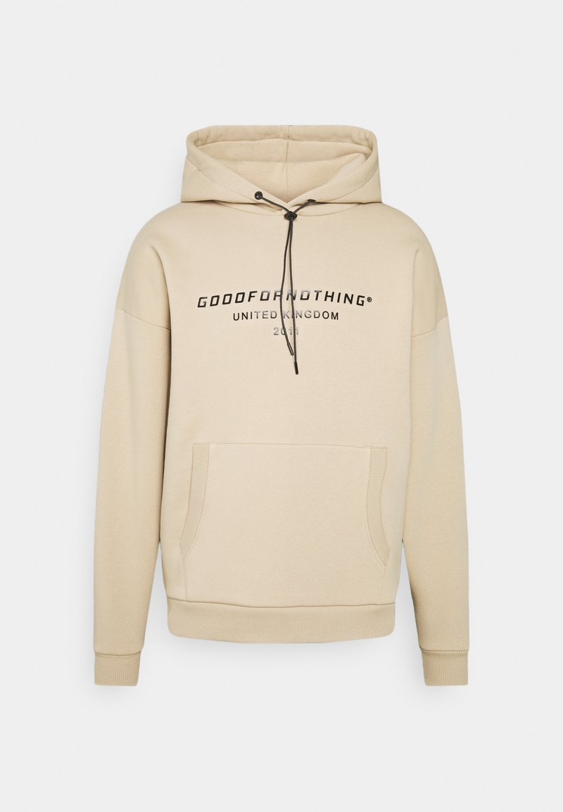 Good For Nothing - OVERSIZED INJECTION MOULD BRANDED HOOD UNISEX - Hoodie - beige