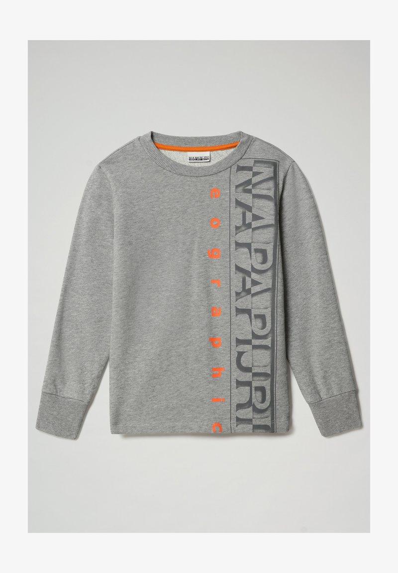 Napapijri - BADYR CREW - Sweatshirt - medium grey melange