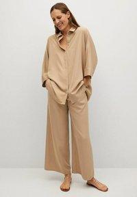 Mango - MOMO - Trousers - beige - 1