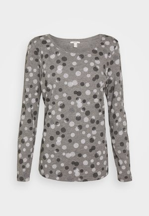 Long sleeved top - gunmetal