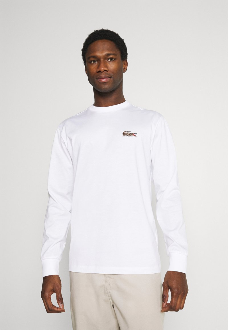 Lacoste - LACOSTE X NATIONAL GEOGRAPHIC - Long sleeved top - white