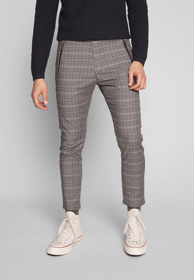 FLEX - Pantalon classique - check / grey