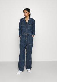 Tommy Jeans - ZIP BOILER SUIT - Jumpsuit - blue - 1