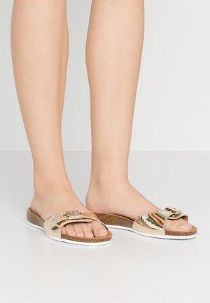 BAHAMAIS - Pantofle - or