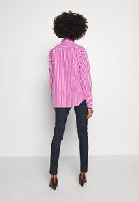 Polo Ralph Lauren - GEORGIA LONG SLEEVE SHIRT - Button-down blouse - pink/white - 2