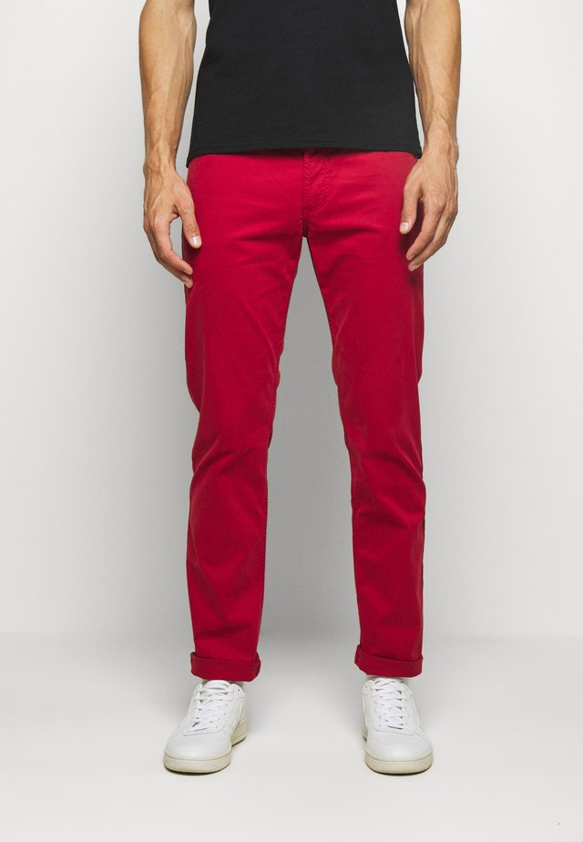 BROKEN TWILL TROUSER - Broek - red