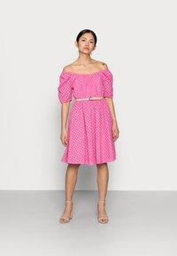 YAS Petite - YASVOLANT DRESS  - Cocktail dress / Party dress - azalea pink - 1