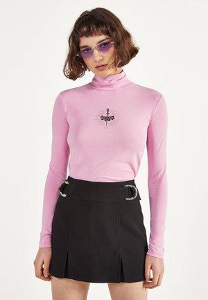 HEMD MIT STEHKRAGEN UND PRINT 02194168 - Top sdlouhým rukávem - pink