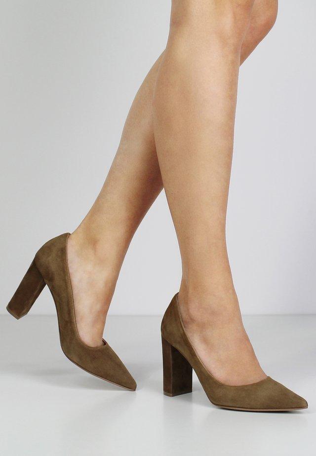 NATALIA - Zapatos altos - cognac