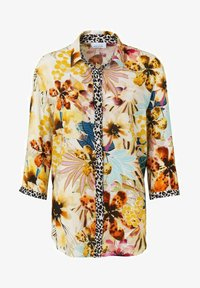JUST WHITE - Button-down blouse - sand druck - 0