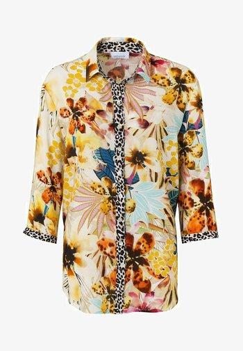 Button-down blouse - sand druck