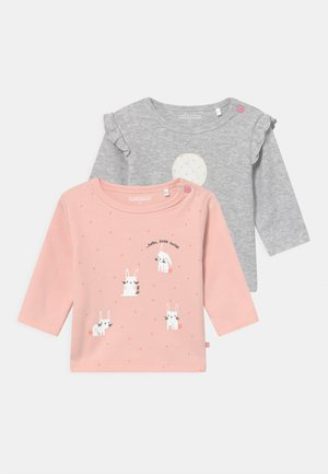2 PACK  - Top s dlouhým rukávem - light pink/grey