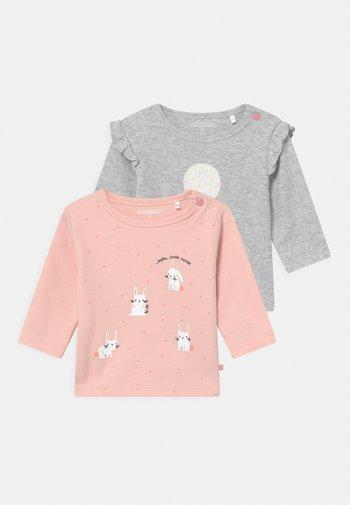 2 PACK  - Long sleeved top - light pink/grey