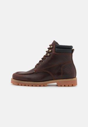 Lace-up ankle boots - brunello/black