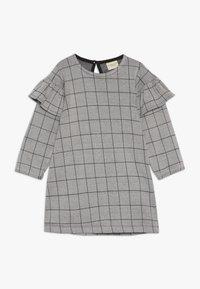 Turtledove - CHECK FRILL SLEEVE - Vestido ligero - grey/black - 0