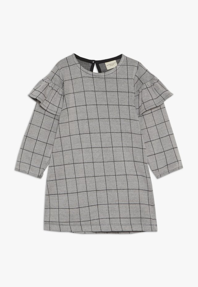 CHECK FRILL SLEEVE - Jerseykjoler - grey/black