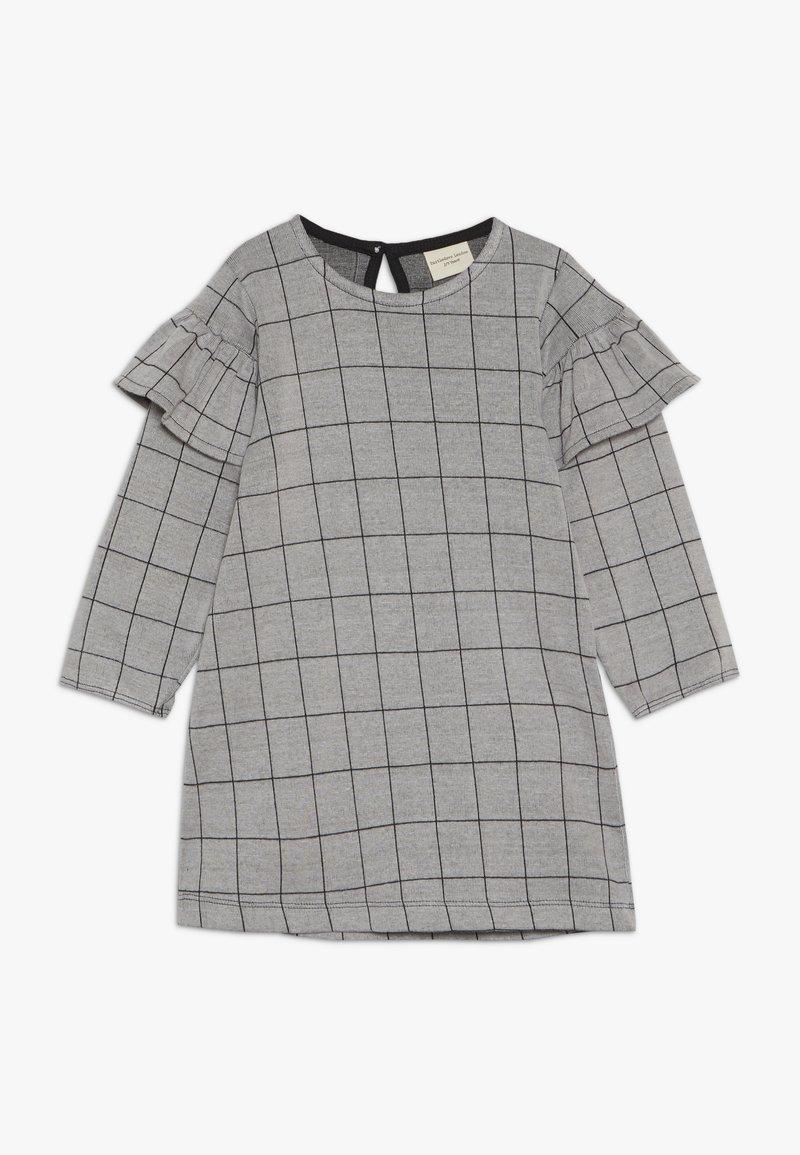 Turtledove - CHECK FRILL SLEEVE - Vestido ligero - grey/black