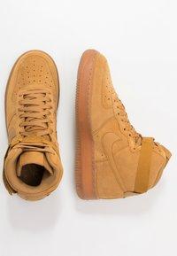 Nike Sportswear - AIR FORCE 1  - High-top trainers - wheat/light brown - 0