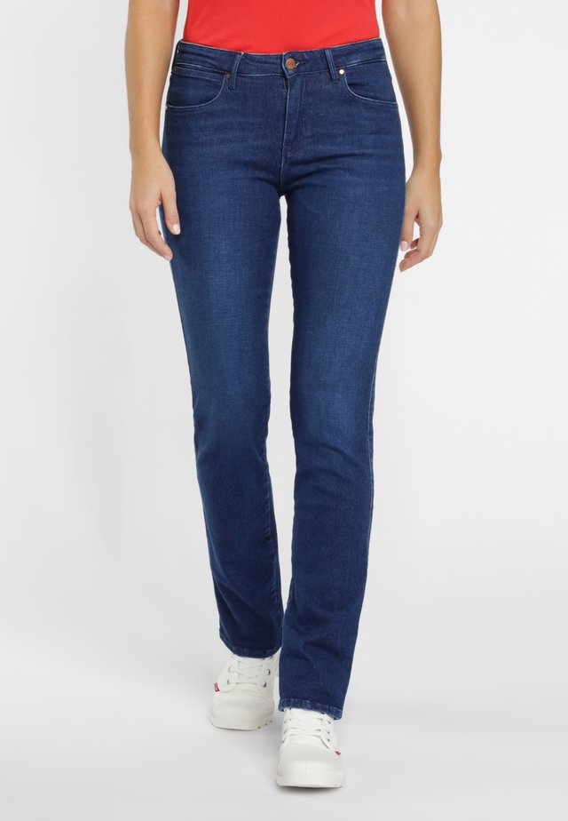 Jeansy Straight Leg - dark blue