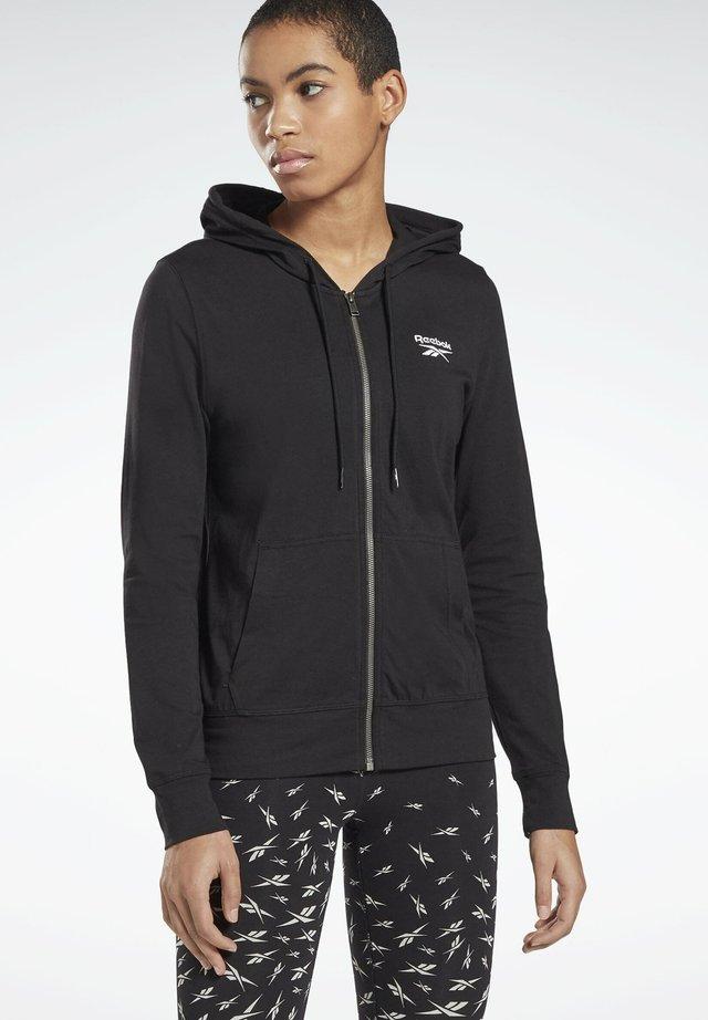 REEBOK IDENTITY JERSEY ZIP UP HOODIE - Zip-up hoodie - black