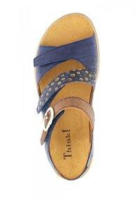 Think! - MEGGI - Wedge sandals - indigo/kombi - 3
