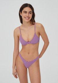 PULL&BEAR - Bikinibroekje - mottled pink - 0