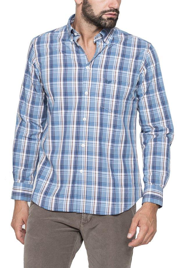 Camicia - blu chiaro/marrone