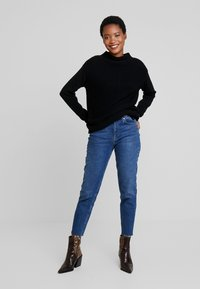 Marc O'Polo - LONGSLEEVE STRUCTURE MIX TURTLENECK - Jumper - black - 1