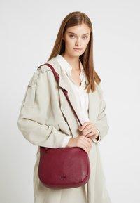 Bree - NOLA  - Across body bag - rhododenron - 1